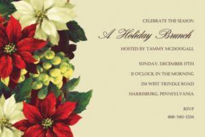 Custom Regal Poinsettia Invitations