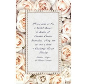 Custom Lovely in White Bridal Shower Invitations