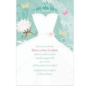 Custom Something Blue Bridal Shower Invitations