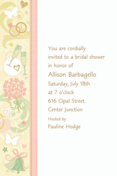 Custom tying the knot bridal shower invitations party city stopboris Images