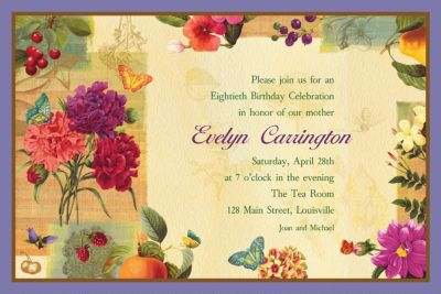 Custom Le Jardin Invitations