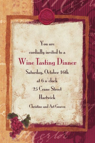 Vineyard Grapes Custom Invitation