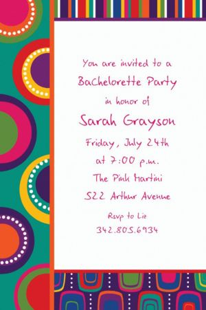 Custom Cocktail Chic Invitations