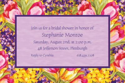 Custom Tulips Invitations