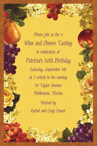Custom Golden Orchard Invitations