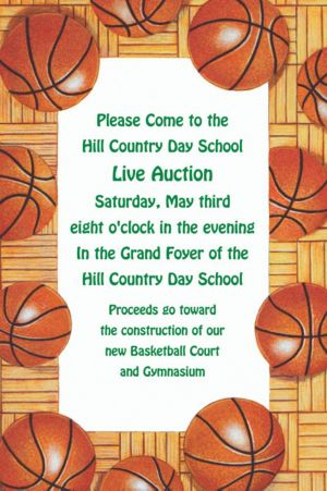 Custom Basketball Border Invitations