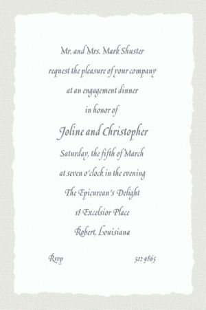 Custom Gray Deckle Edge Invitations