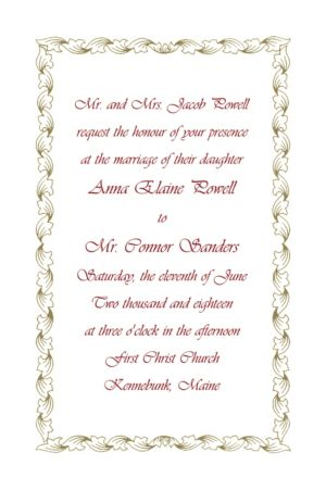 Custom Gold Leaf Scroll Invitations
