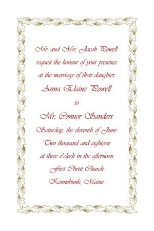 Custom Gold Leaf Scroll Invitations