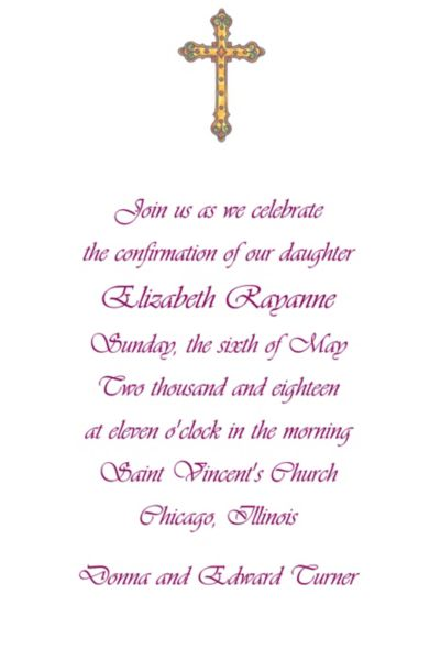 Custom Small Detailed Cross Invitations