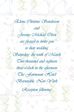 Custom Wedding Procession Toile Wedding Invitations