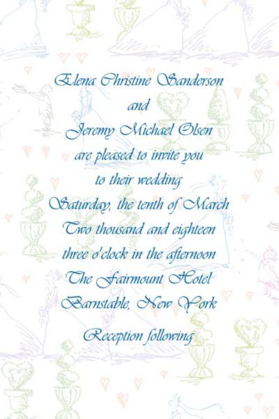 Custom Wedding Procession Toile Wedding Invitations