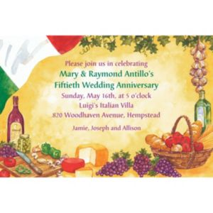 Custom Italian Dinner Party Invitations