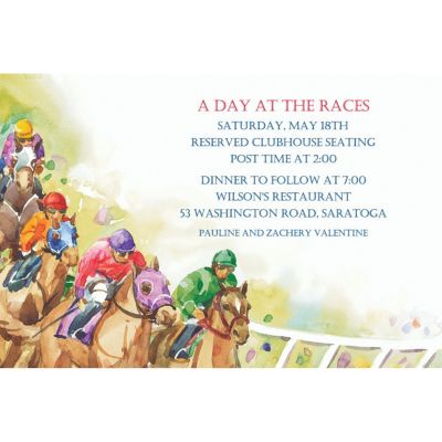 Racehorses Custom Invitation
