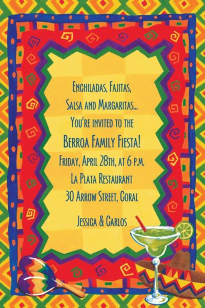 Custom Colorful Fiesta Invitations
