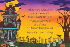 Custom Haunted House Halloween Invitations
