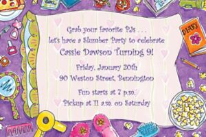 Custom Girls Slumber Party Invitations