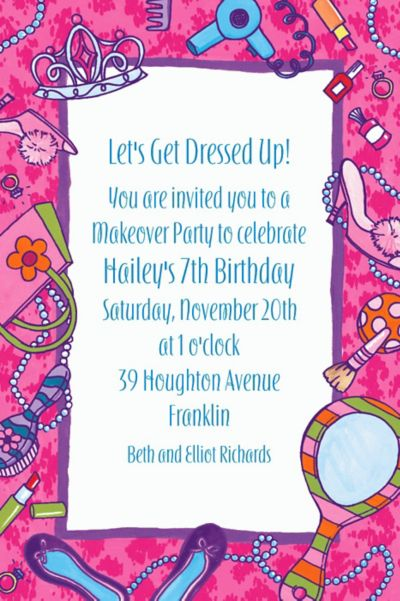 Custom Makeover Party Invitations