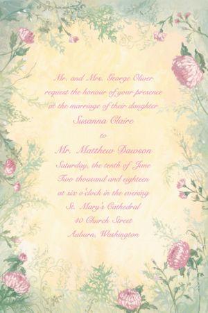 Custom Antique Foliage Invitations