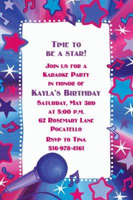 Custom Rock Star Karaoke Invitations Party City