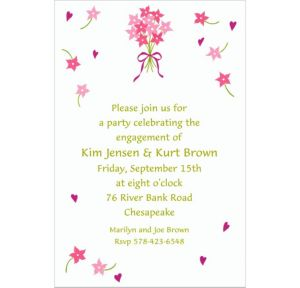 Custom Bouquet & Florets Bridal Shower Invitations