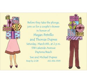 Custom Couple's Bridal Shower Invitations