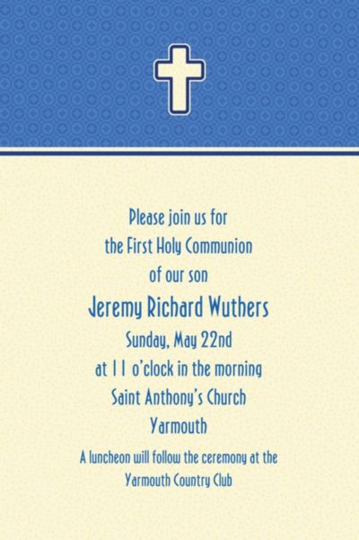 Custom Simple Modern Cross Invitations