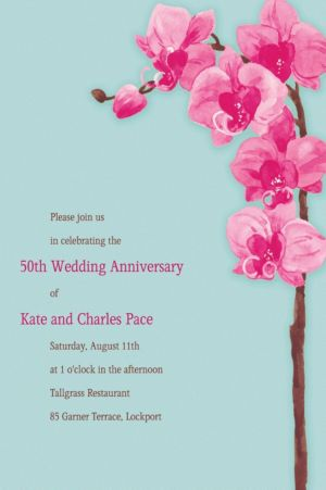Custom Elegant Orchids Invitations