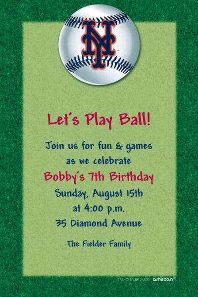 New York Mets Custom Invitation