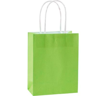 Lime Green Kraft Bags 10ct