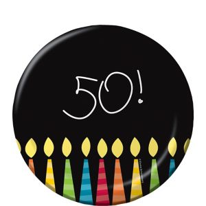 Great 50th Birthday Dessert Plates 8ct