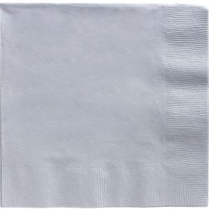 Silver Dinner Napkins 20ct