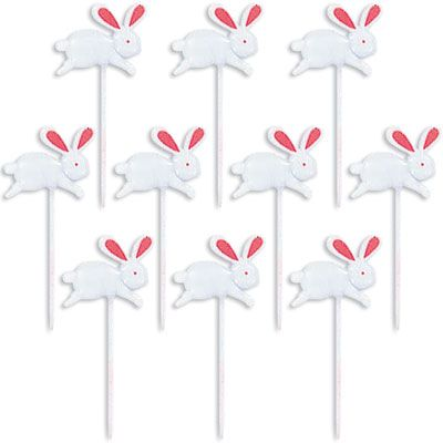 Easter Bunny Party Picks 10ct