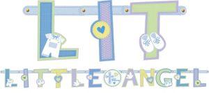 Blue Sweet Religious Letter Banner