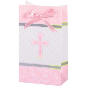 Pink Sweet Religious Favor Bag 12ct