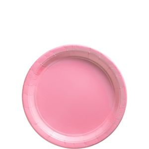 Big Party Pack Pink Paper Dessert Plates 50ct