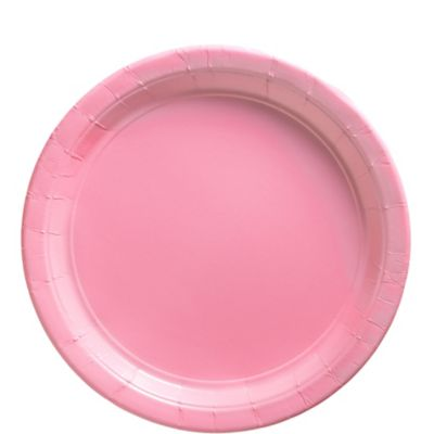 Pink Paper Lunch Plates 50ct