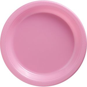 Big Party Pack Pink Plastic Dinner Plates 50ct