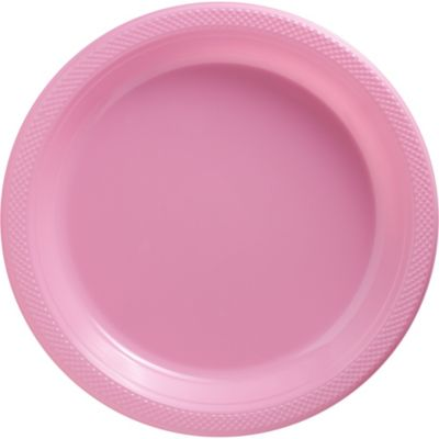 Pink Plastic Dinner Plates 50ct
