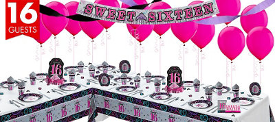 Sparkle Sweet 16 Party Deluxe Party Kit