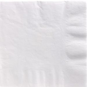 Big Party Pack White Dinner Napkins 50ct