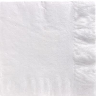 White Dinner Napkins 50ct