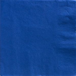 Big Party Pack Royal Blue Dinner Napkins 50ct