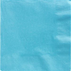 Caribbean Blue Dinner Napkins 50ct