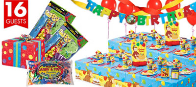 Curious George Ultimate Party Kit for 16 Guests