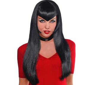 Va Va Vampiress Long Black Wig