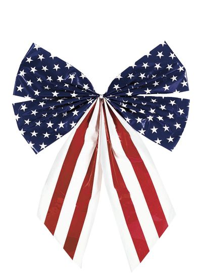 Star Spangled Plastic Flag Bow