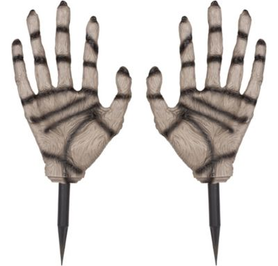 Zombie Hand Lawn Stakes 2ct