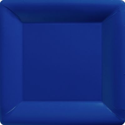 Royal Blue Paper Square Dinner Plates 20ct