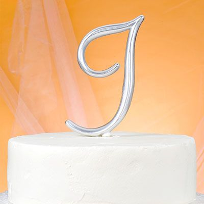 Monogram I Wedding Cake Topper